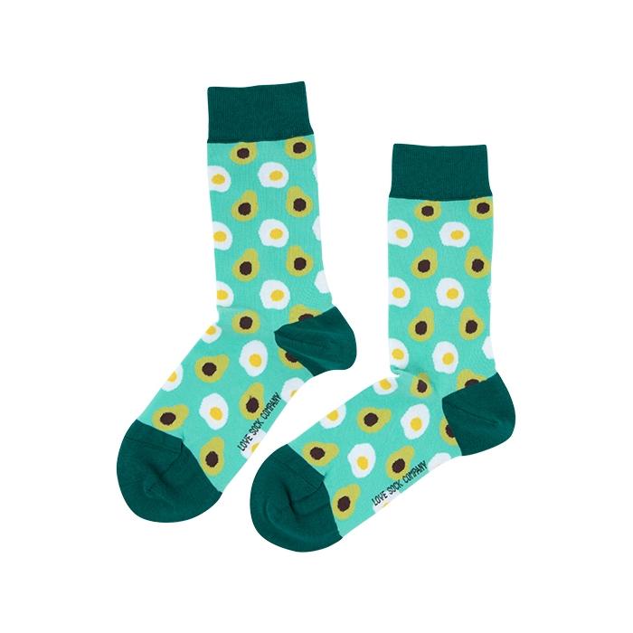 Avocado Love Sock Unisex Men Women Colorful Socks 1 or 3 pairs