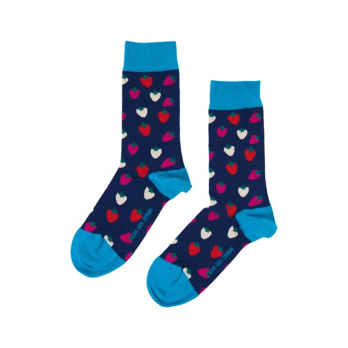 Strawberry Sock Unisex Herren Damen Socken 1 oder 3 Paar