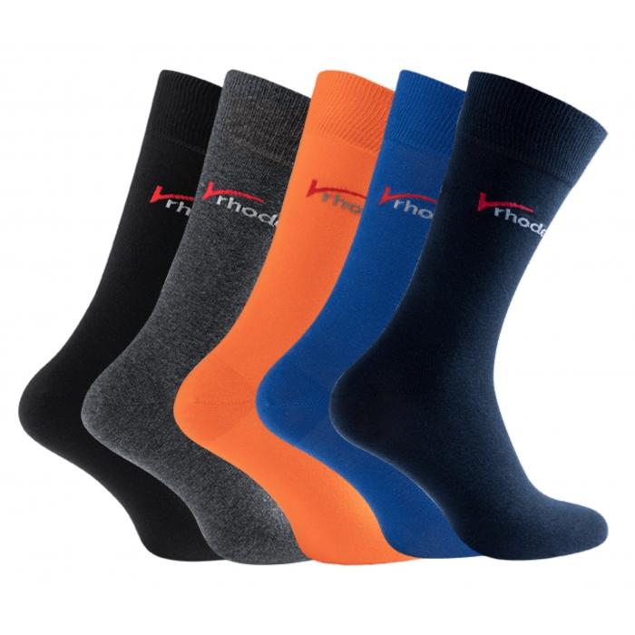 Rhodea Basic Socks Unisex Men Women Socks Organic Cotton 2 or 6 pairs of STYLE RH-20