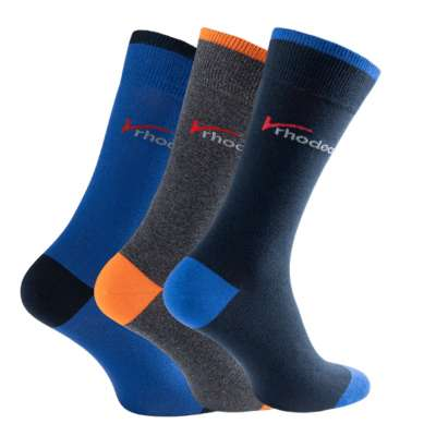 Rhodea Basic Socks Unisex Men Women Socks Organic Cotton 2 or 6 pairs of STYLE RH-21