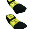 Work socks black men's tennis comfort socks cotton blend 5 pairs