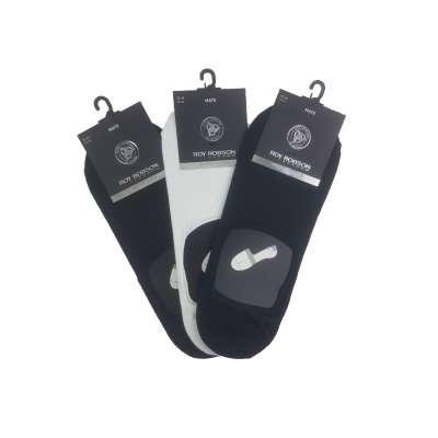 Roy Robson Brand Quality Men's Footies Socks Sneaker Socks With Silicone Pad 3 Pairs