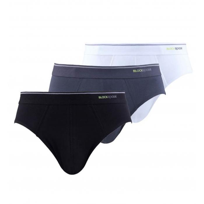 Blackspade Marken Qualität 3er Pack Herren Unterhosen Slip Tender Cotton Mehrfarbig 9672