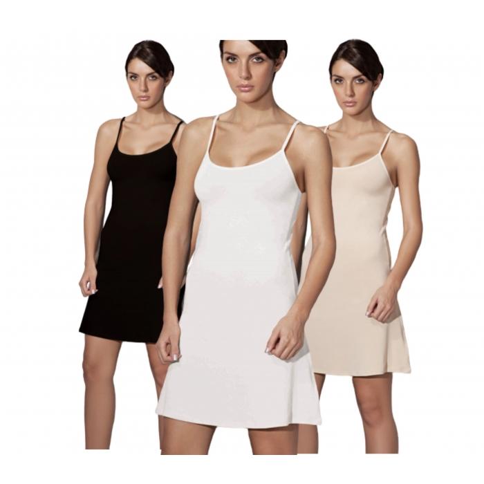 Doreanse Unterkleid verstellbare Träger Damen Mini Nachtkleid 11128
