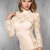 Doreanse Women's Bodysuit Lace Tulle Bodysuit Floral Lace Bodysuit Lace 12444
