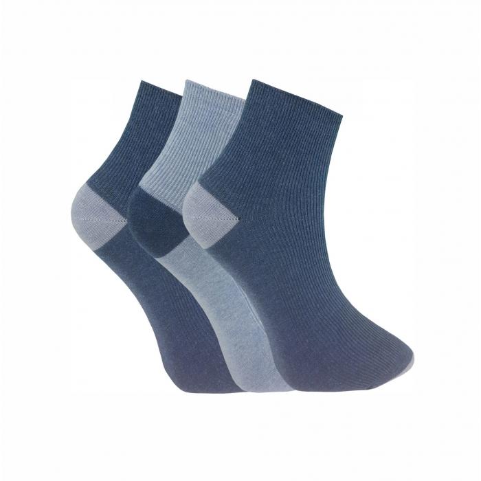 Pierre Cardin men's socks short shaft cotton navy / blue 3-pack