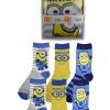Kinder Giftbox 3er Pack Disney Despicable ME Motive  Junge Comic Lustige Socken