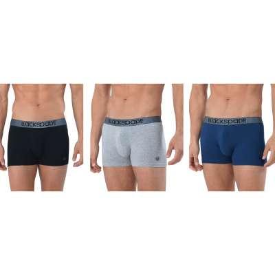 Blackspade Marken Qualität 3er Pack Herren Boxershorts Modern Basics Unterhosen Mehrfarbig 9472
