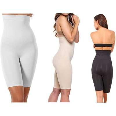 miorre Figurformende Nahtlose Miederpants Atmungsaktive Shapewear mit Bein Hohe Taille Perfekt als Unterwäsche