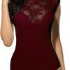 Doreanse Damenbody Spitzenbody Body Damen Blusenbody Spitzenbody Lace Bodysuit 12126-285