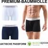 Herren Boxershort Unterhose Premium Baumwolle Cotton schwarz Navy weiß 9303