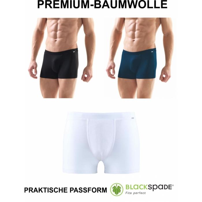 Herren Boxershort Unterhose Premium Baumwolle Cotton schwarz weiß blau 9310