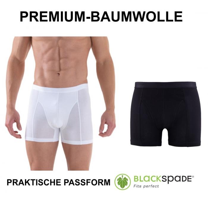 Herren Boxershort Unterhose Premium Baumwolle Cotton schwarz weiß B9502