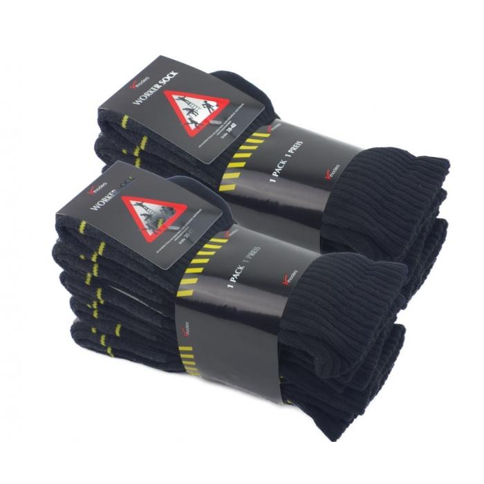 RHODEA 10 | 20 Paar Arbeitssocken WORK Socks Herrensocken Socken Strümpfe Baumwolle Meliert