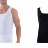 Blackspade Business Unterhemd Herren weiß schwarz Tank Top atmungsaktive Premium Baumwolle 9504-380