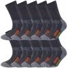 10 Paar Arbeitssocken Herren Damen Socken Performance Coolmax Premium Baumwolle-416