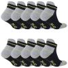 10 Paar Arbeitssocken Funktionssocken - Sneaker-Socken Füßlinge - verstärkte Ferse und Spitze-423
