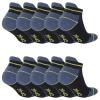 10 Paar Arbeitssocken Funktionssocken - Sneaker-Socken Füßlinge - verstärkte Ferse und Spitze-427