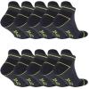 10 Paar Arbeitssocken Funktionssocken - Sneaker-Socken Füßlinge - verstärkte Ferse und Spitze-428