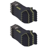 10 Paar Arbeitssocken Funktionssocken - Sneaker-Socken Füßlinge - verstärkte Ferse und Spitze-431