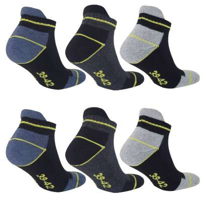 10 Paar Arbeitssocken Funktionssocken - Sneaker-Socken Füßlinge - verstärkte Ferse und Spitze