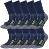 10 Paar Arbeitssocken Herren Damen Socken Performance Coolmax Premium Baumwolle-417