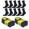 Arbeitssocken Schwarz Herren Tennis Komfort Socken Baumwollmischung 5 | 10 | 20 Paar-442