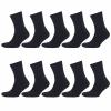 Arbeitssocken Schwarz Herren Tennis Komfort Socken Baumwollmischung 5 | 10 | 20 Paar-445