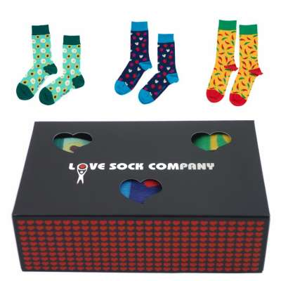 Love Sock Sets Geschenkbox Avocado Strawbery Yellow Hot Chili