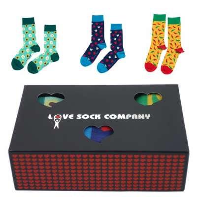Love Sock Sets Geschenkbox Avocado Strawbery Yellow Hot Chili
