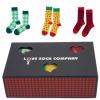 Love Sock Sets Geschenkbox Avocado Yellow Red Hot Chili Pepper