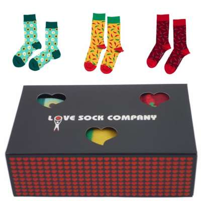 Love Sock Sets Geschenkbox Avocado Yellow Red Hot Chili Pepper