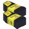 Arbeitssocken Schwarz Herren Tennis Komfort Socken Baumwollmischung 5 | 10 | 20 Paar-447