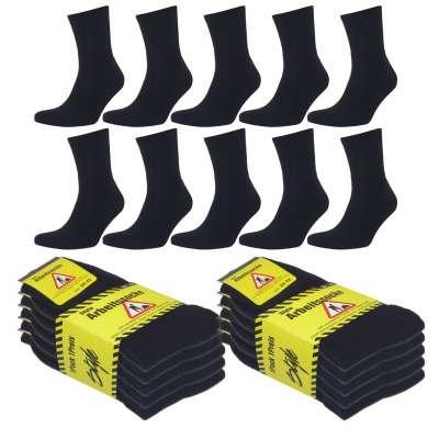 Arbeitssocken Schwarz Herren Tennis Komfort Socken Baumwollmischung 5 | 10 | 20 Paar