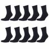 Arbeitssocken Schwarz Herren Tennis Komfort Socken Baumwollmischung 5 | 10 | 20 Paar-449